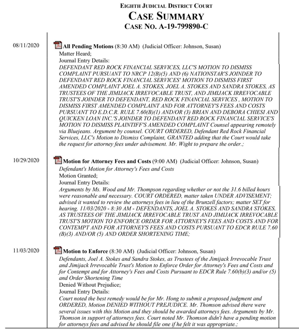 2020 Court hearings Part 1